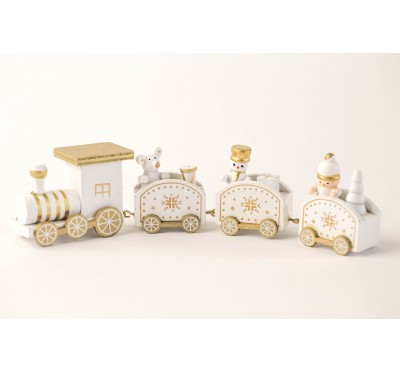 Christmas train - white