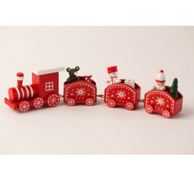 Christmas train - red