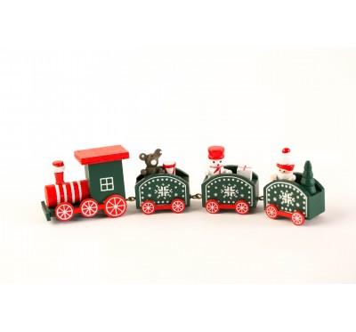 Christmas train - green
