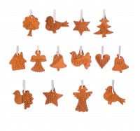 Xmas3 XS2 wooden tree with  TerracottaLace ornaments